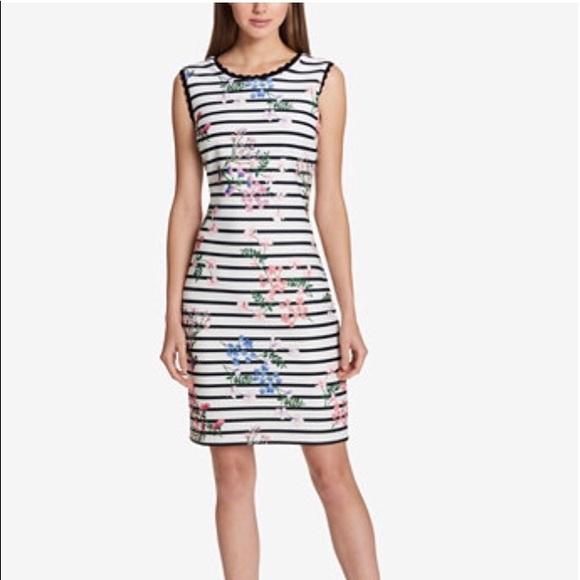 4bc4c41f27 Tommy Hilfiger Striped Floral-Print Sheath Dress. NWT. Tommy Hilfiger.  M_5aea05b0077b97d3b656ebbd. M_5aea05b146aa7ccb61526d72.  M_5aea05b261ca1030da353efd